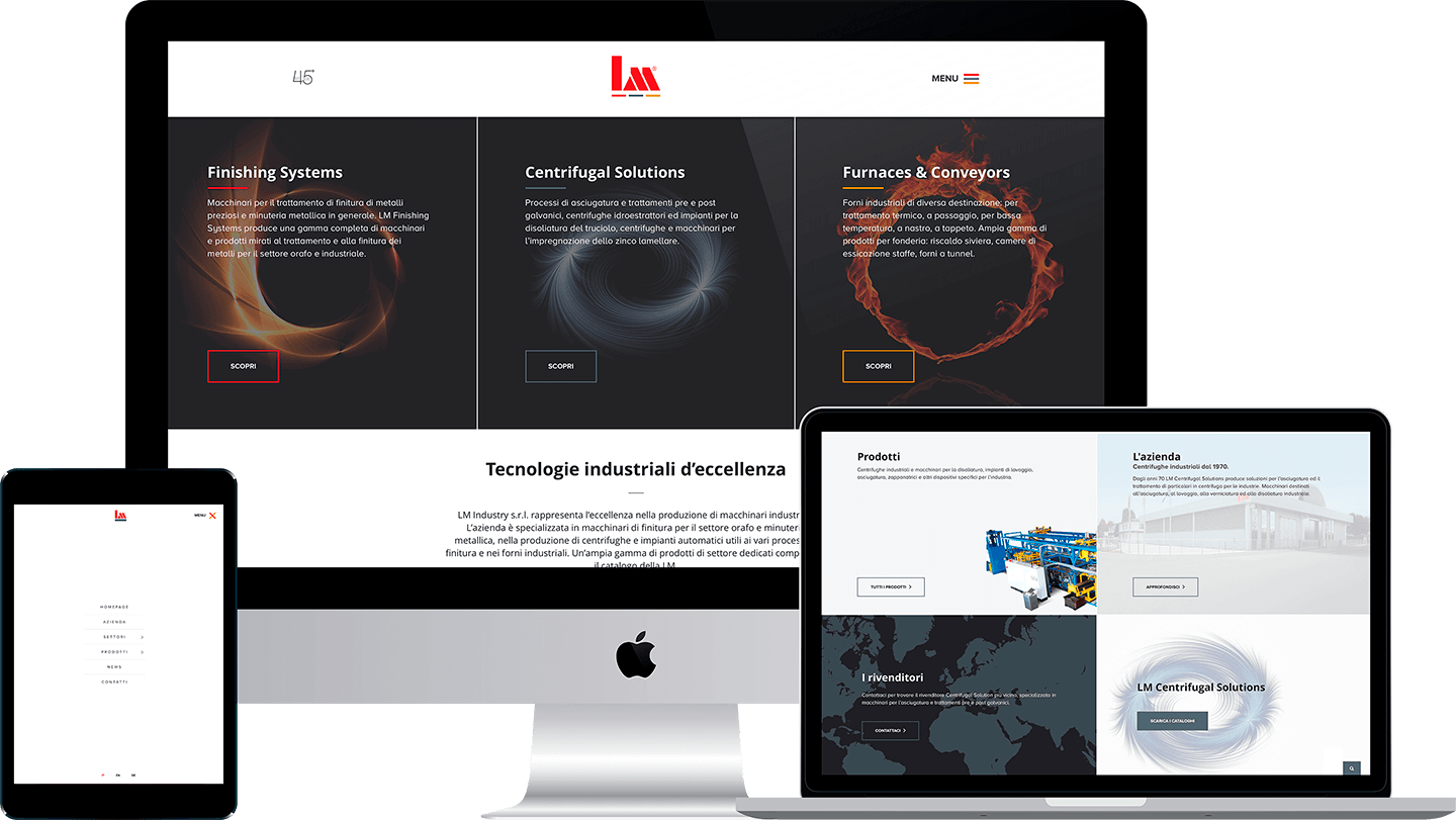 LM Industry website
