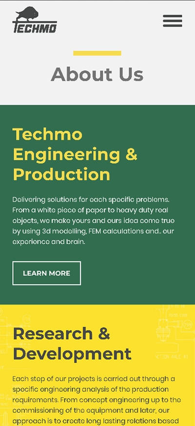 Techmo mobile website