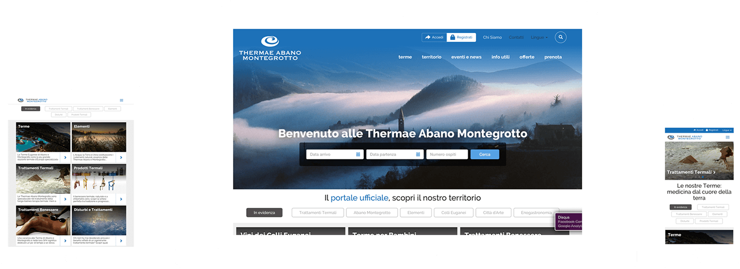 Thermae Abano Montegrotto website